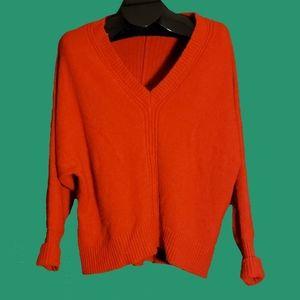Anthropologie MOTH Red v-neck alpaca blend Sweater